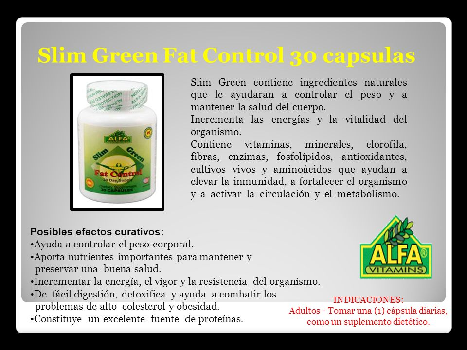 Slim Green Fat Control 30 capsulas