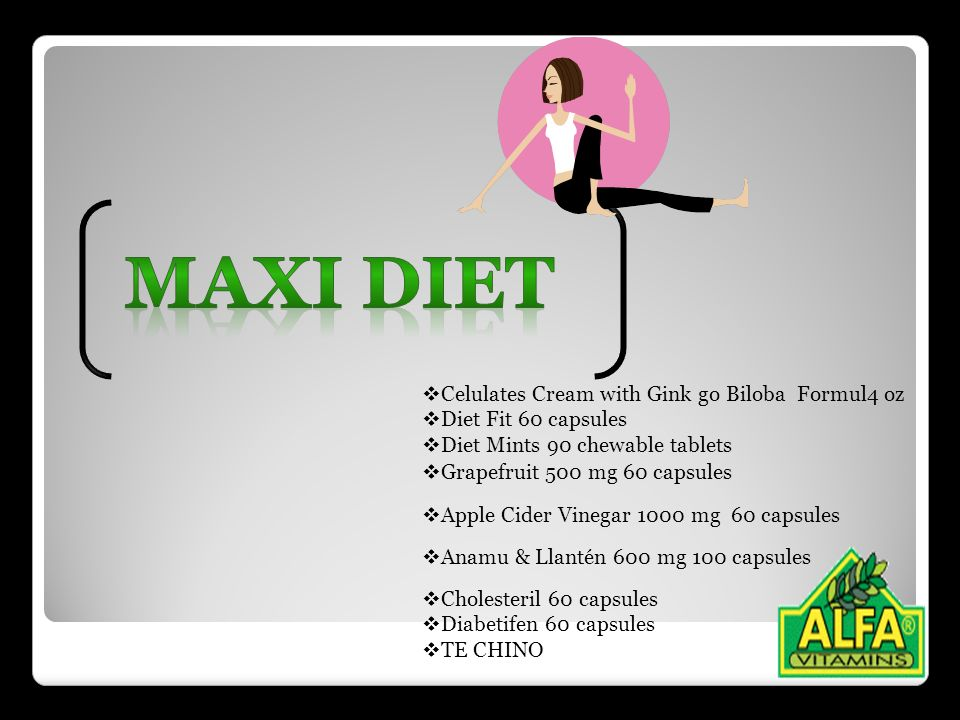 MAXI DIET Celulates Cream with Gink go Biloba Formul4 oz