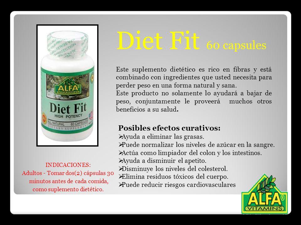 Diet Fit 60 capsules Posibles efectos curativos: