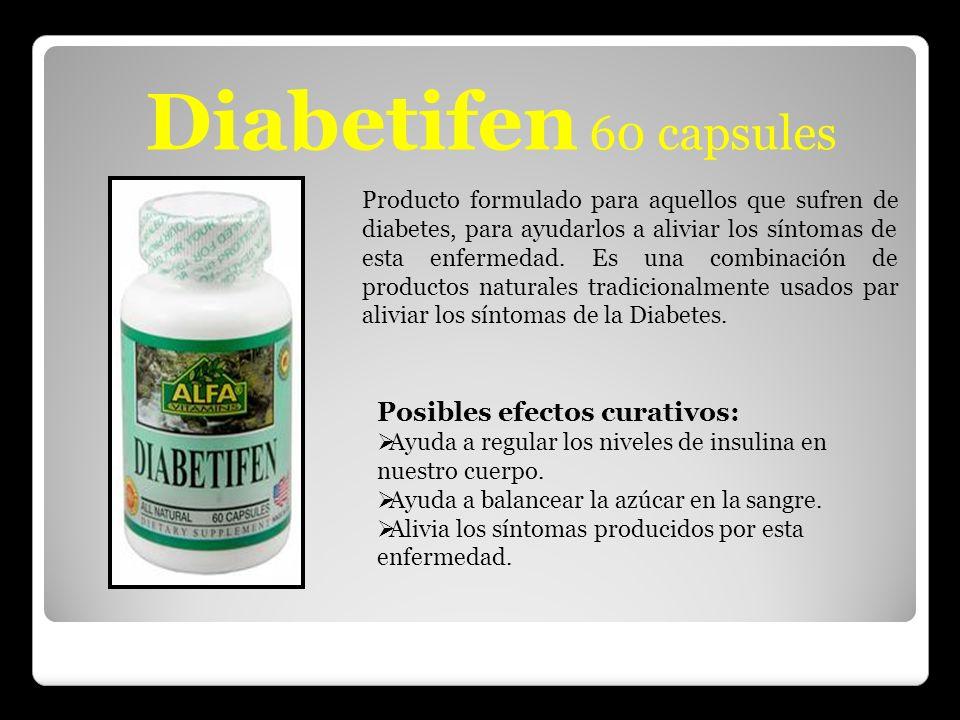 Diabetifen 60 capsules Posibles efectos curativos: