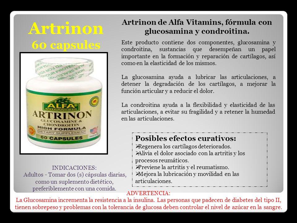 Artrinon de Alfa Vitamins, fórmula con glucosamina y condroitina.
