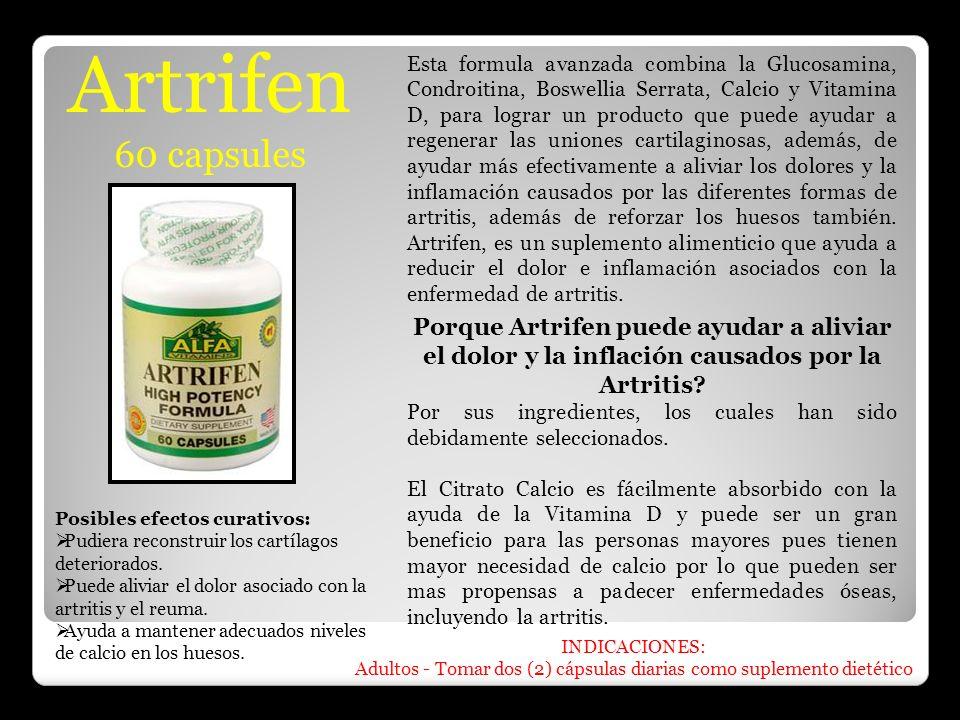 Adultos - Tomar dos (2) cápsulas diarias como suplemento dietético
