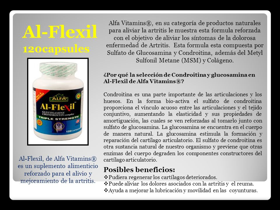 Al-Flexil, de Alfa Vitamins®