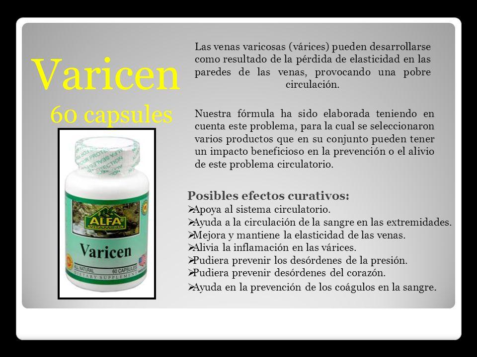 Varicen 60 capsules Posibles efectos curativos:
