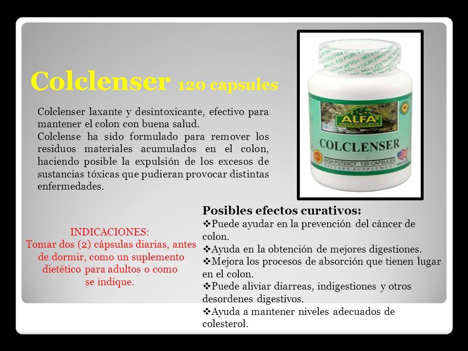 Colclenser 120 capsules Posibles efectos curativos: