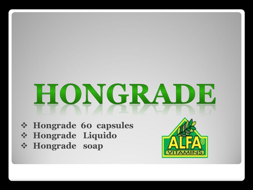 HONGRADE Hongrade 60 capsules Hongrade Liquido Hongrade soap