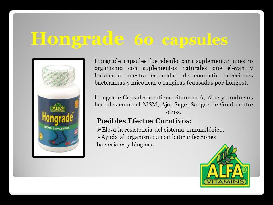 Hongrade 60 capsules Posibles Efectos Curativos: