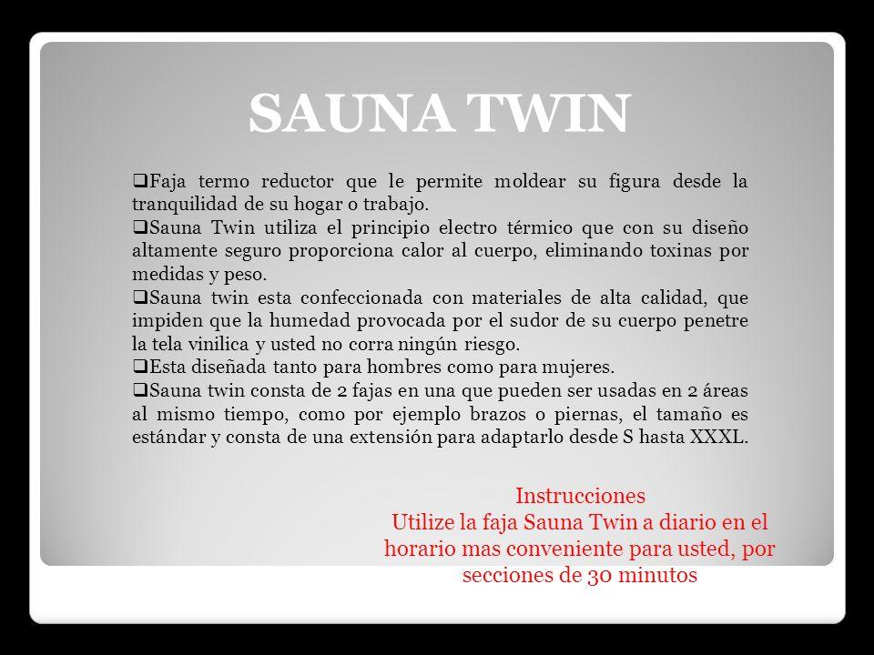 SAUNA TWIN Instrucciones