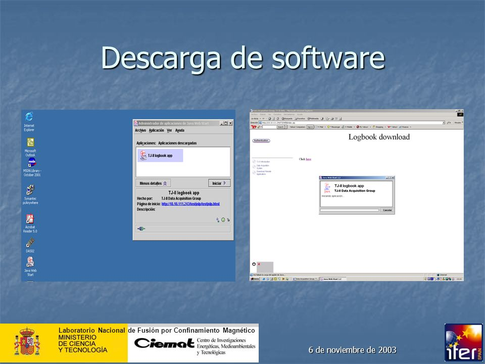 Descarga de software 6 de noviembre de 2003