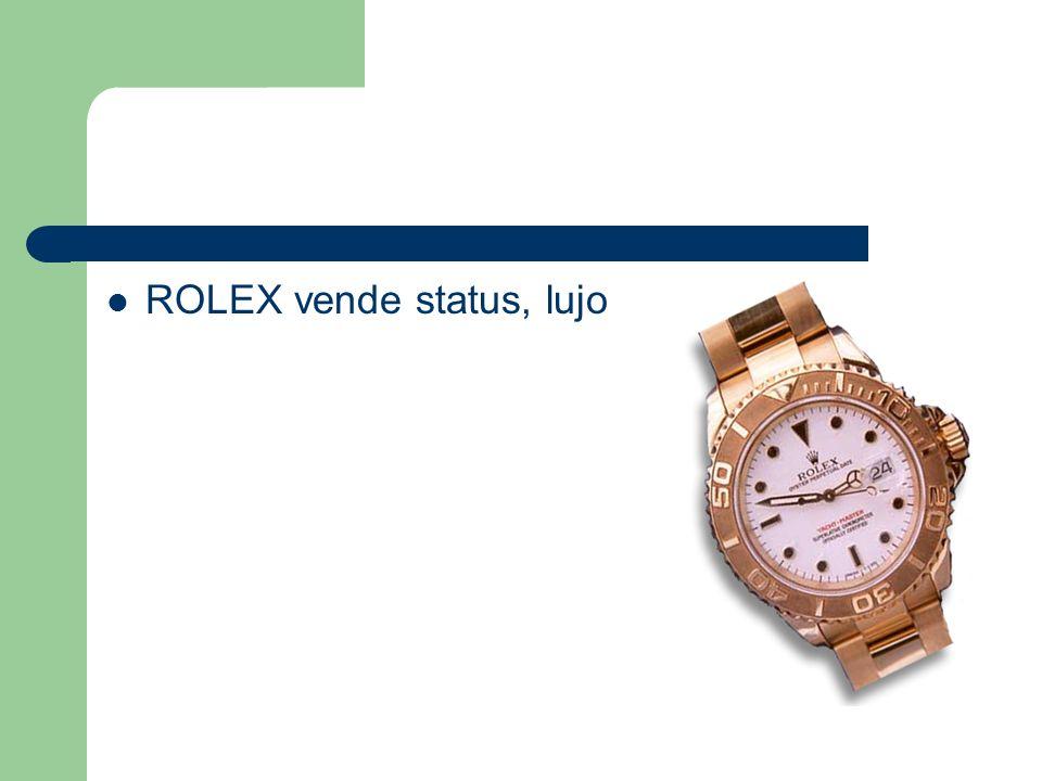 ROLEX vende status, lujo