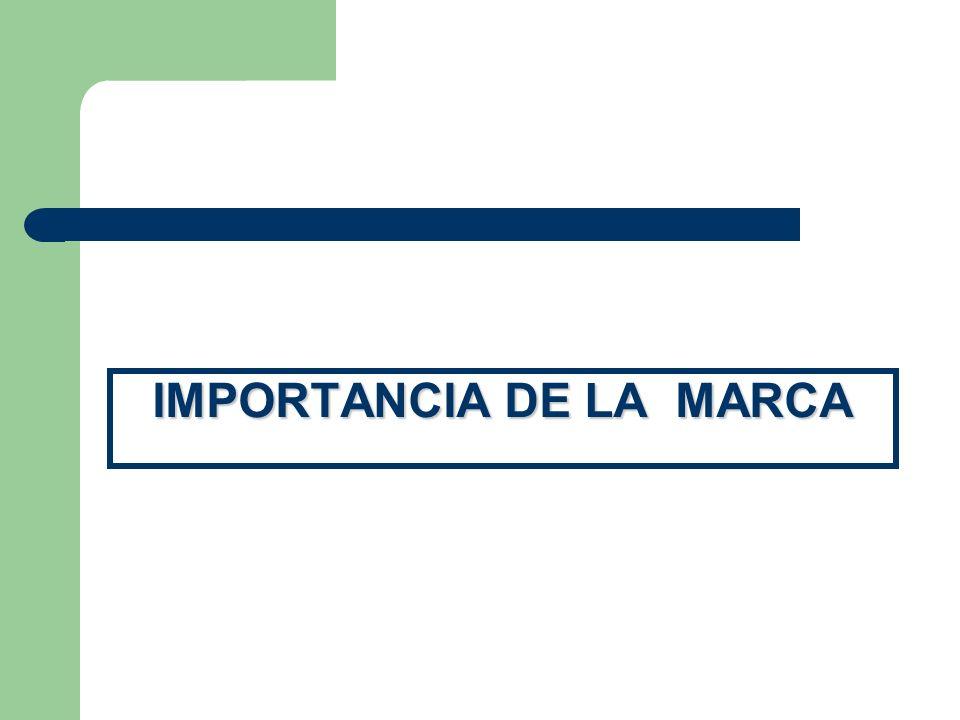 IMPORTANCIA DE LA MARCA