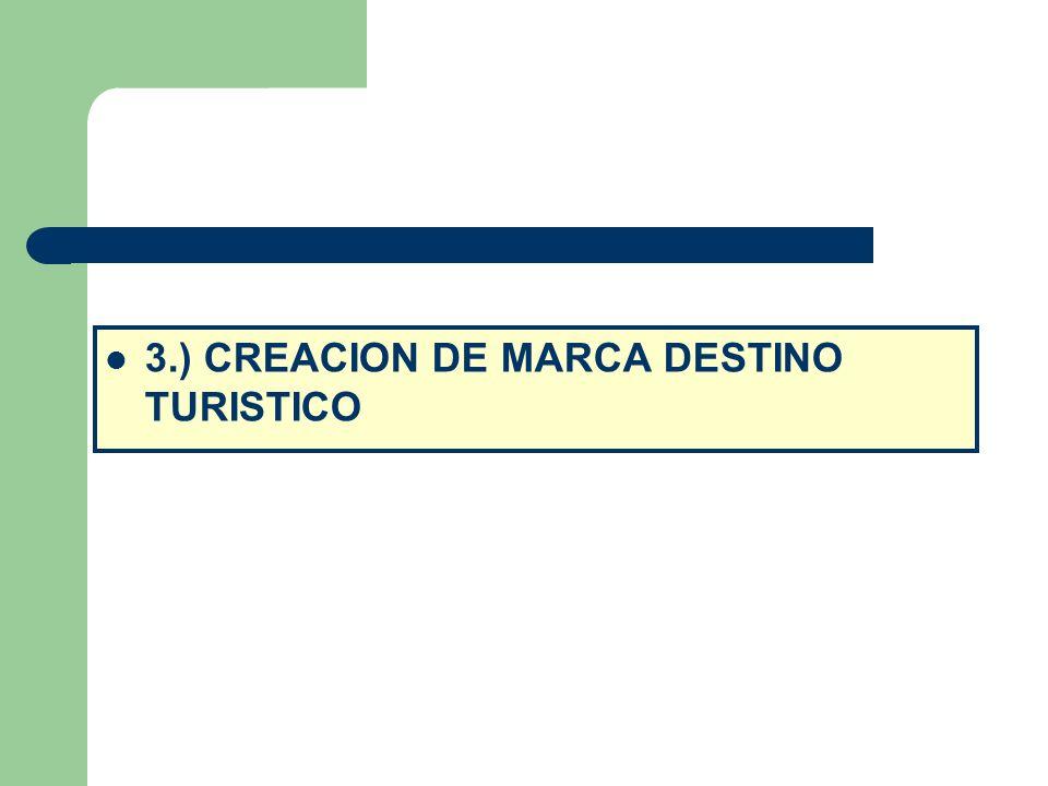 3.) CREACION DE MARCA DESTINO TURISTICO
