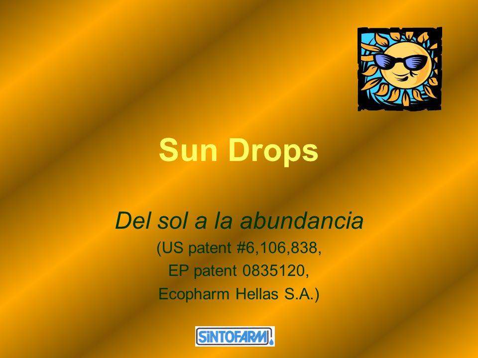 Sun Drops Del sol a la abundancia (US patent #6,106,838,