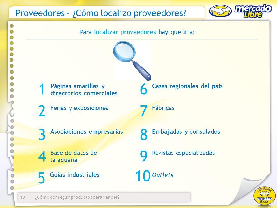Proveedores – ¿Cómo localizo proveedores
