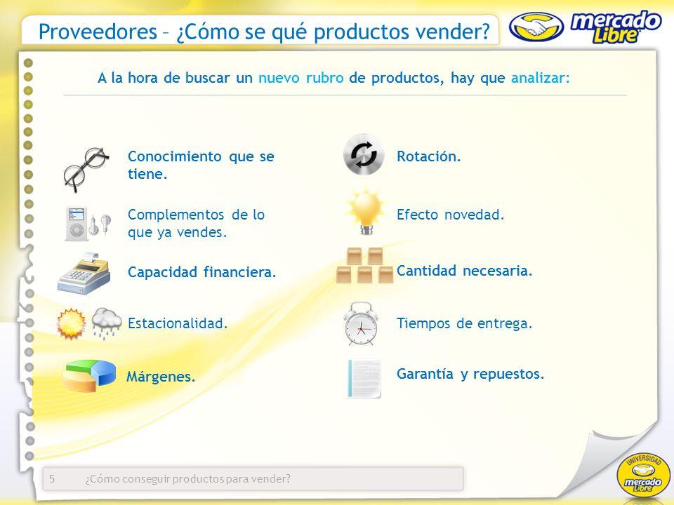 Proveedores – ¿Cómo se qué productos vender
