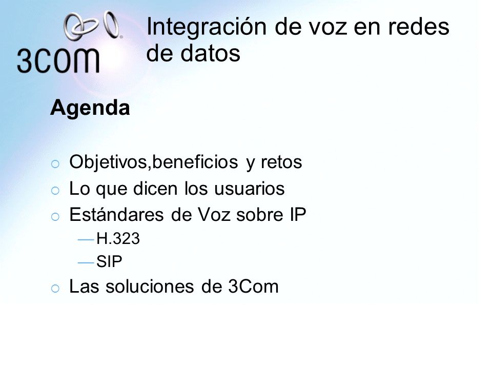 Integración de voz en redes de datos