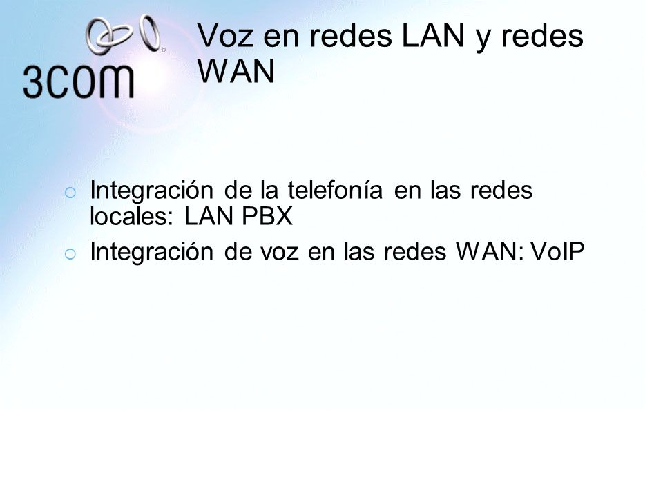 Voz en redes LAN y redes WAN