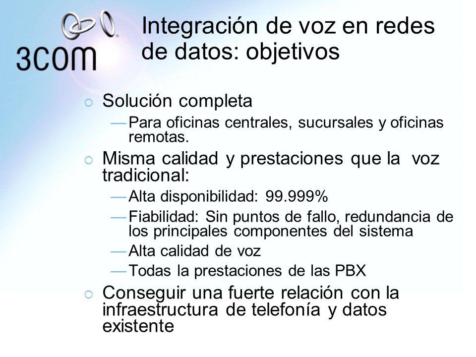 Integración de voz en redes de datos: objetivos