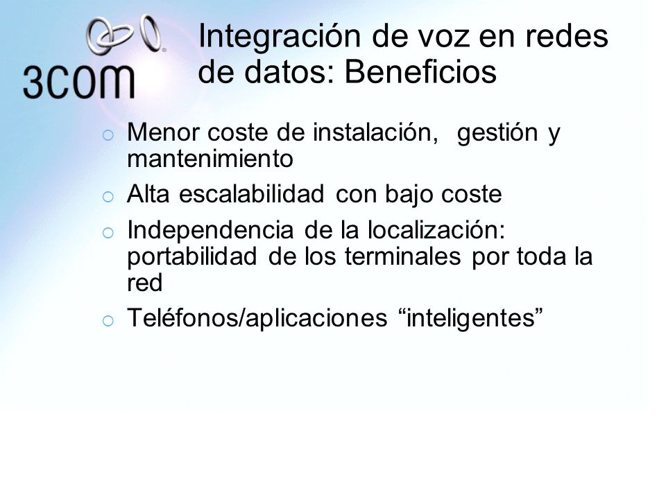 Integración de voz en redes de datos: Beneficios