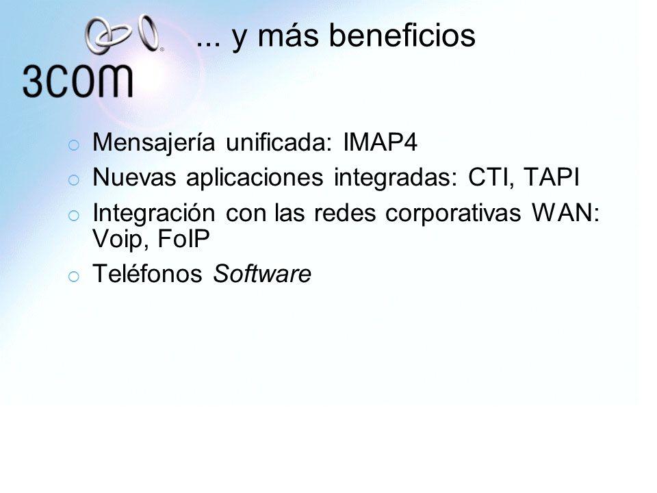 ... y más beneficios Mensajería unificada: IMAP4