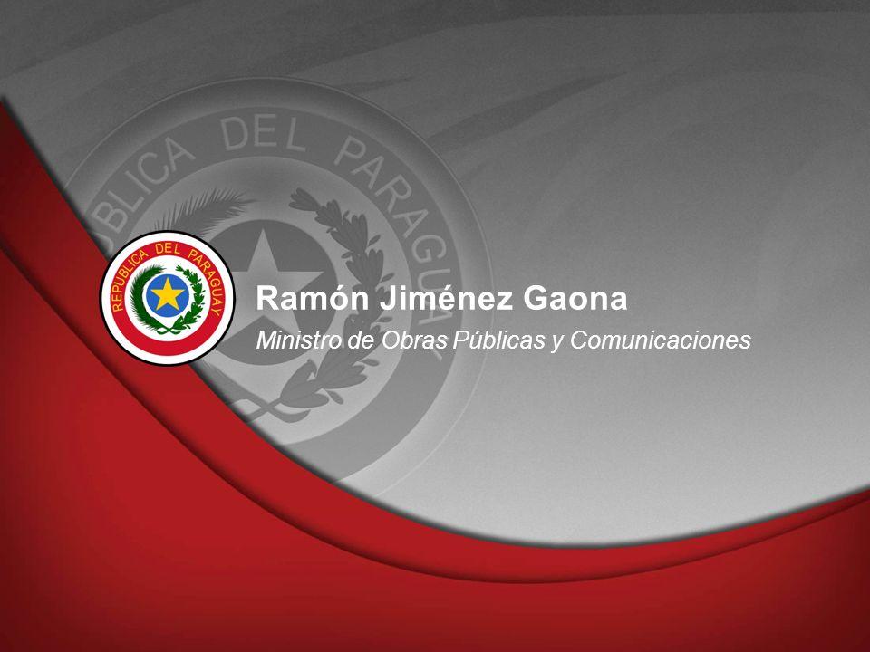 Ramón Jiménez Gaona Ministro de Obras Públicas y Comunicaciones