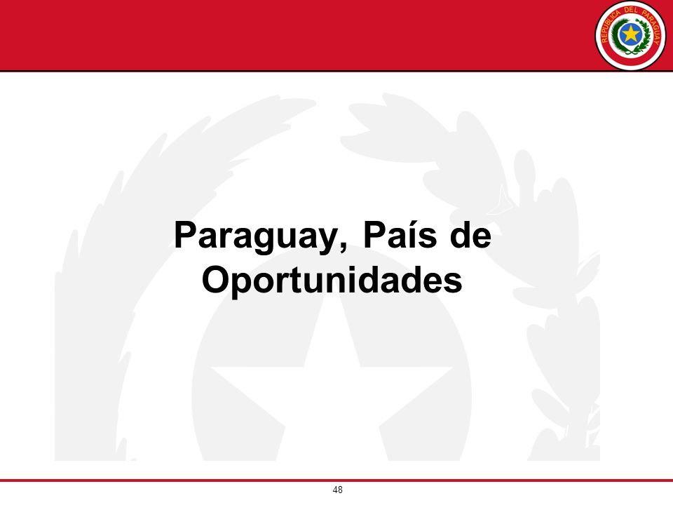 Paraguay, País de Oportunidades