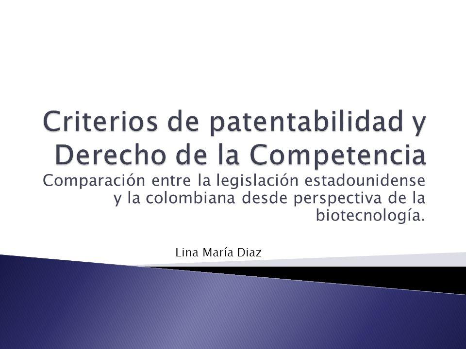 Criterios de patentabilidad y Derecho de la Competencia