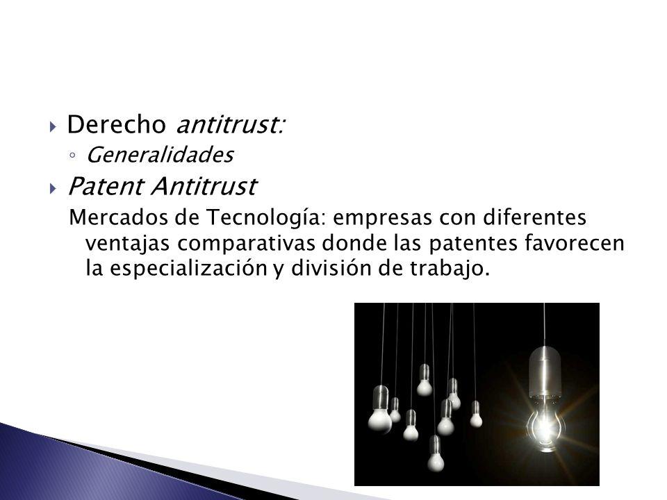 Derecho antitrust: Patent Antitrust Generalidades