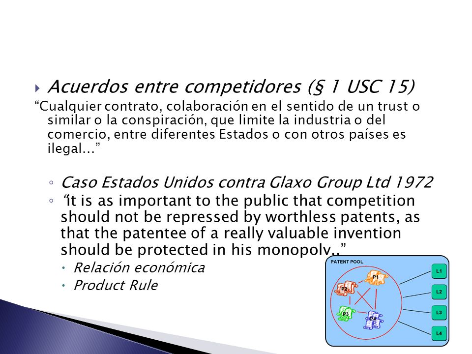 Acuerdos entre competidores (§ 1 USC 15)