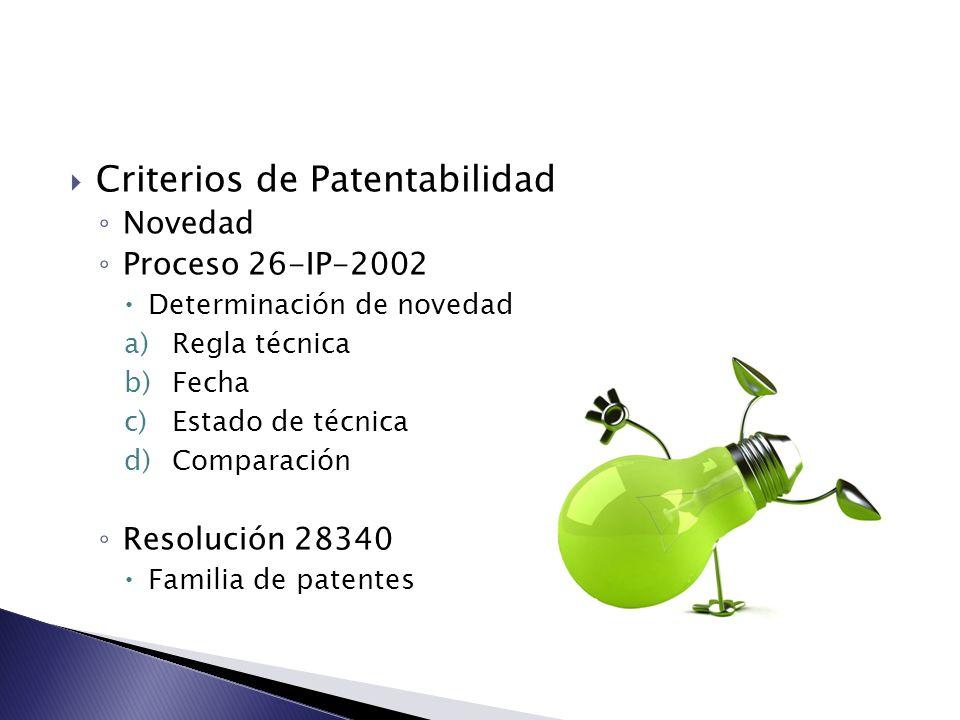 Criterios de Patentabilidad