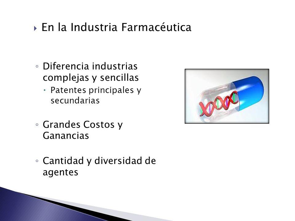 En la Industria Farmacéutica