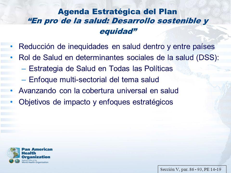 Reducción de inequidades en salud dentro y entre países