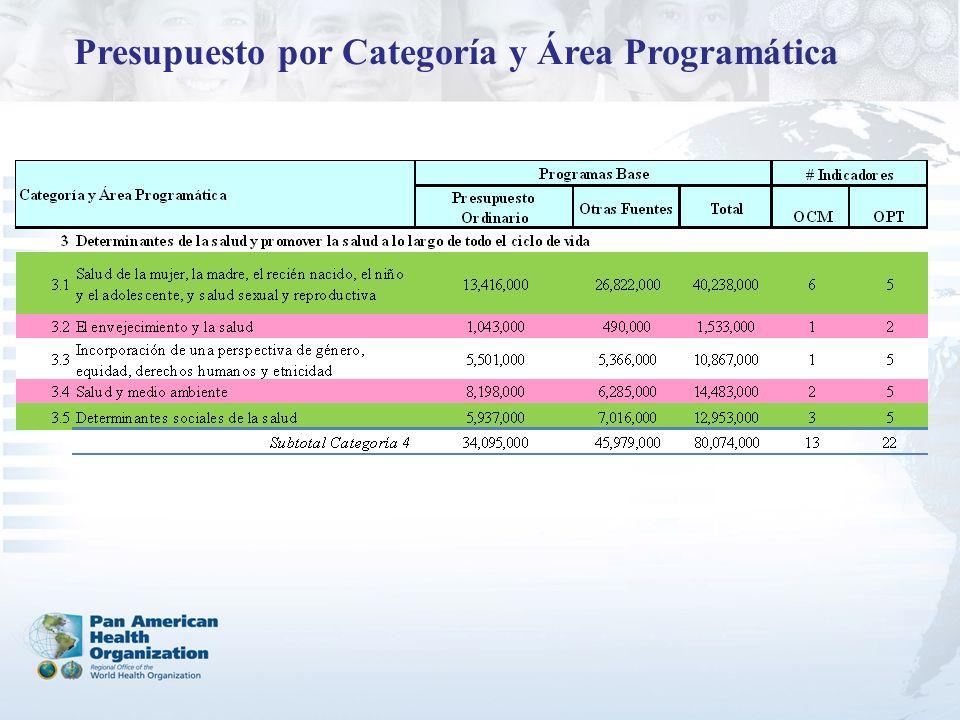 Presupuesto por Categoría y Área Programática