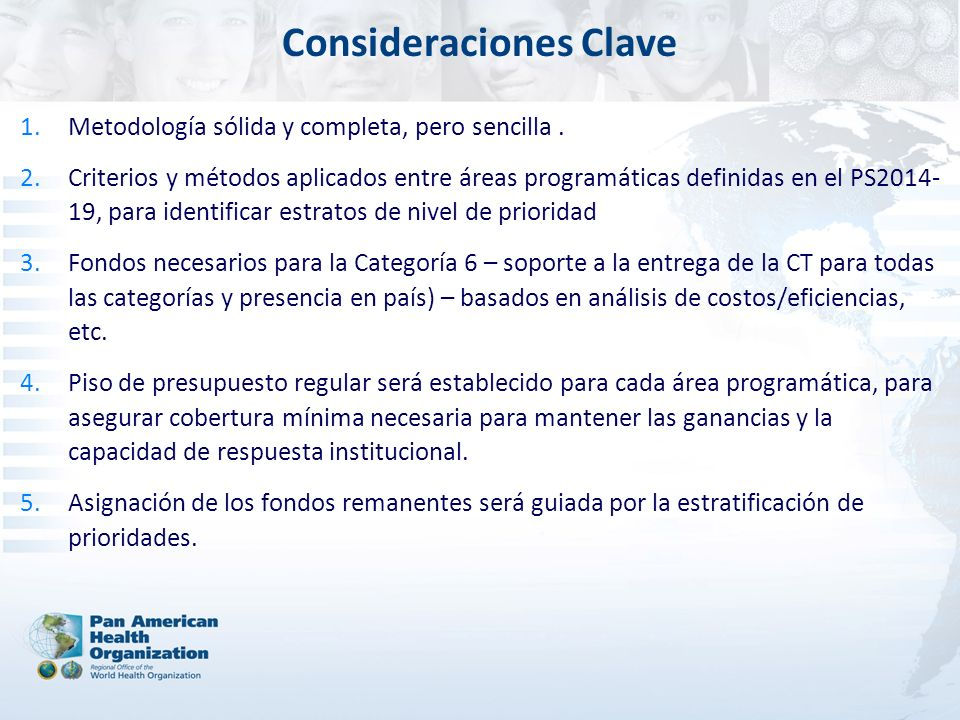 Consideraciones Clave