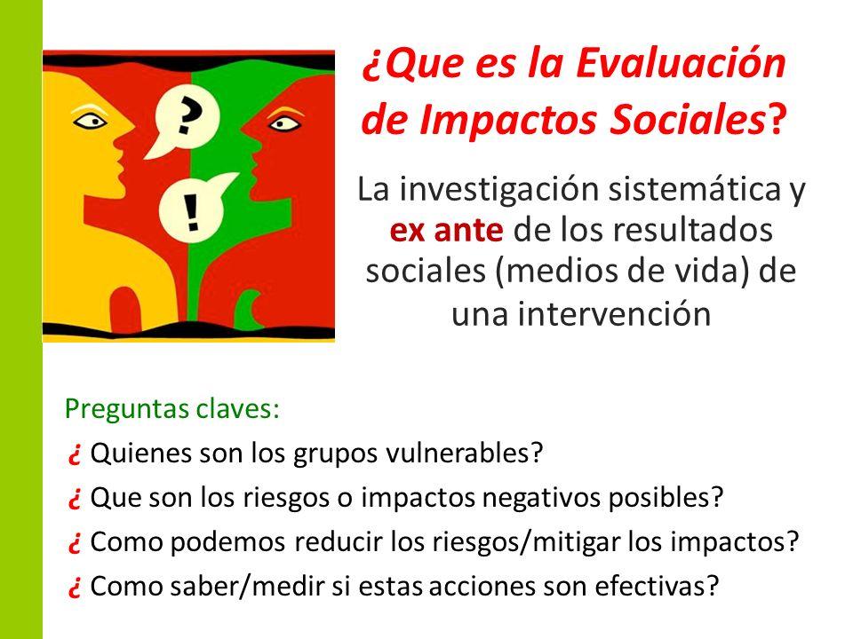 ¿Que es la Evaluación de Impactos Sociales