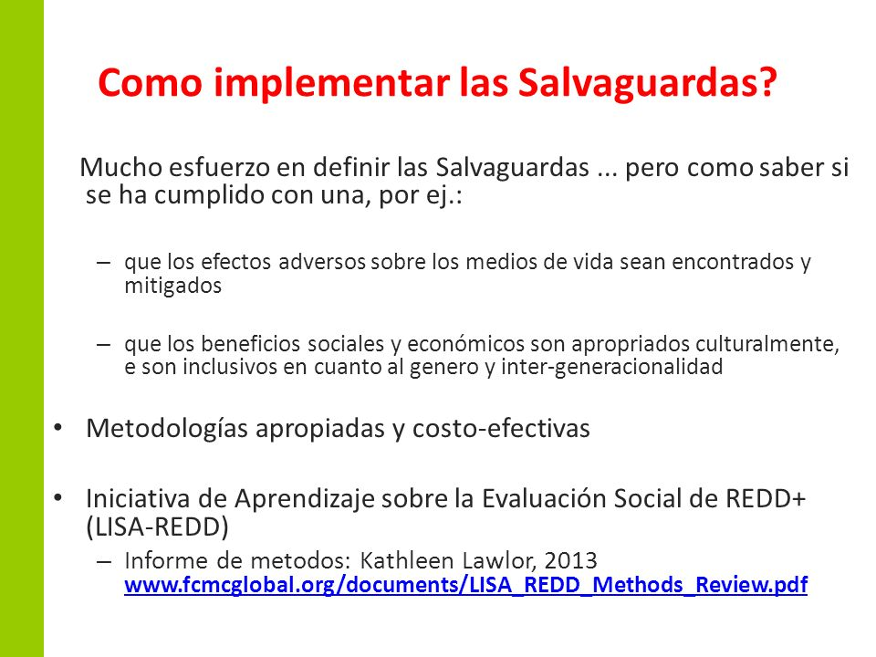 Como implementar las Salvaguardas