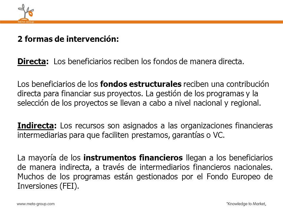 2 formas de intervención: