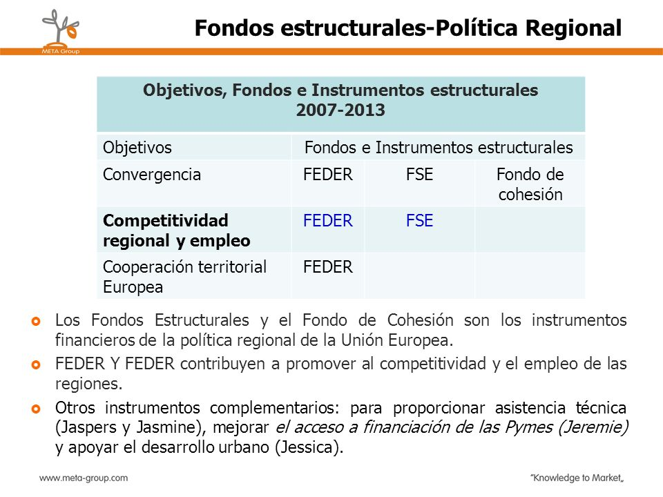 Fondos estructurales-Política Regional