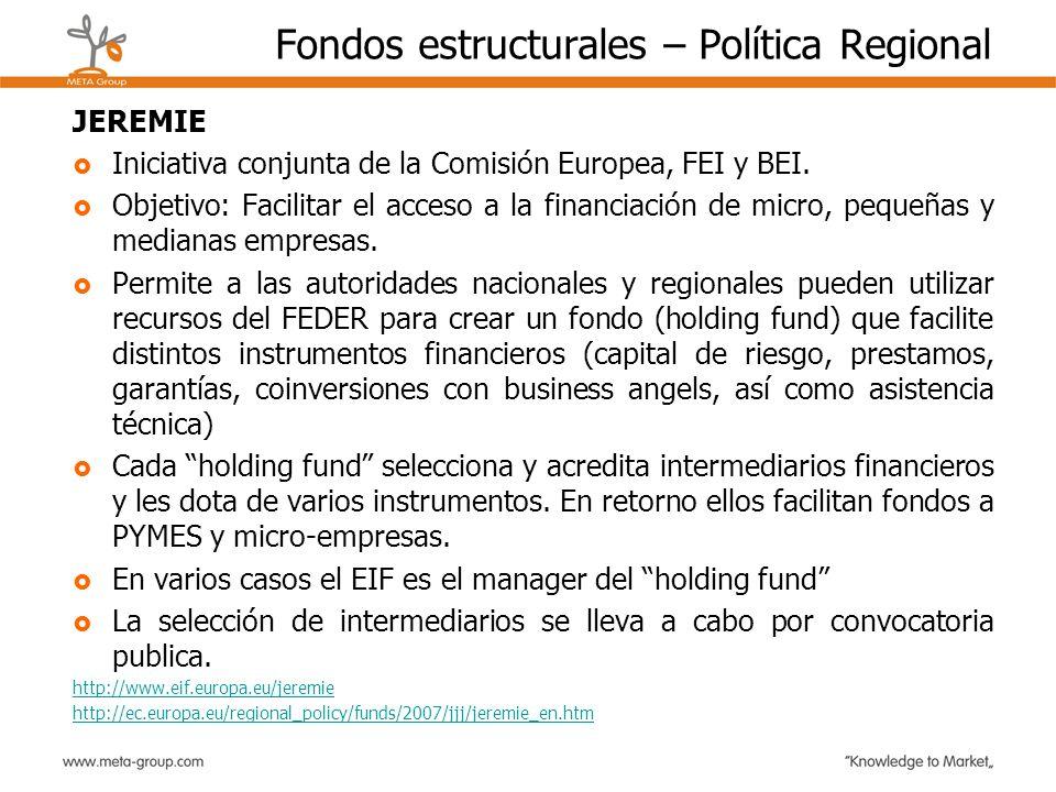 Fondos estructurales – Política Regional