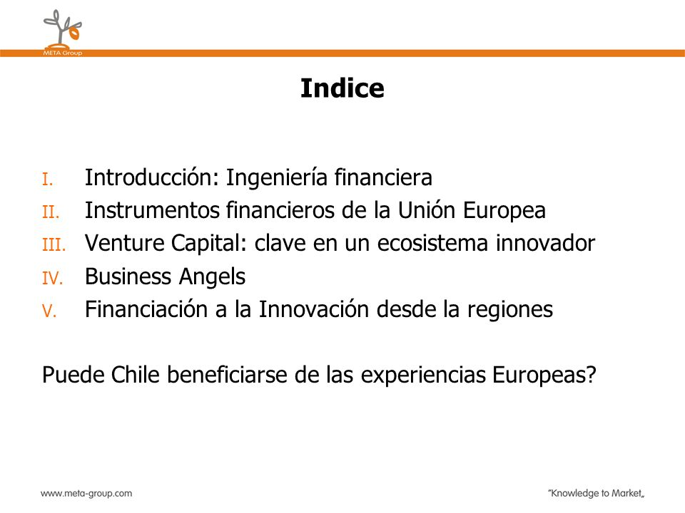 Indice Introducción: Ingeniería financiera