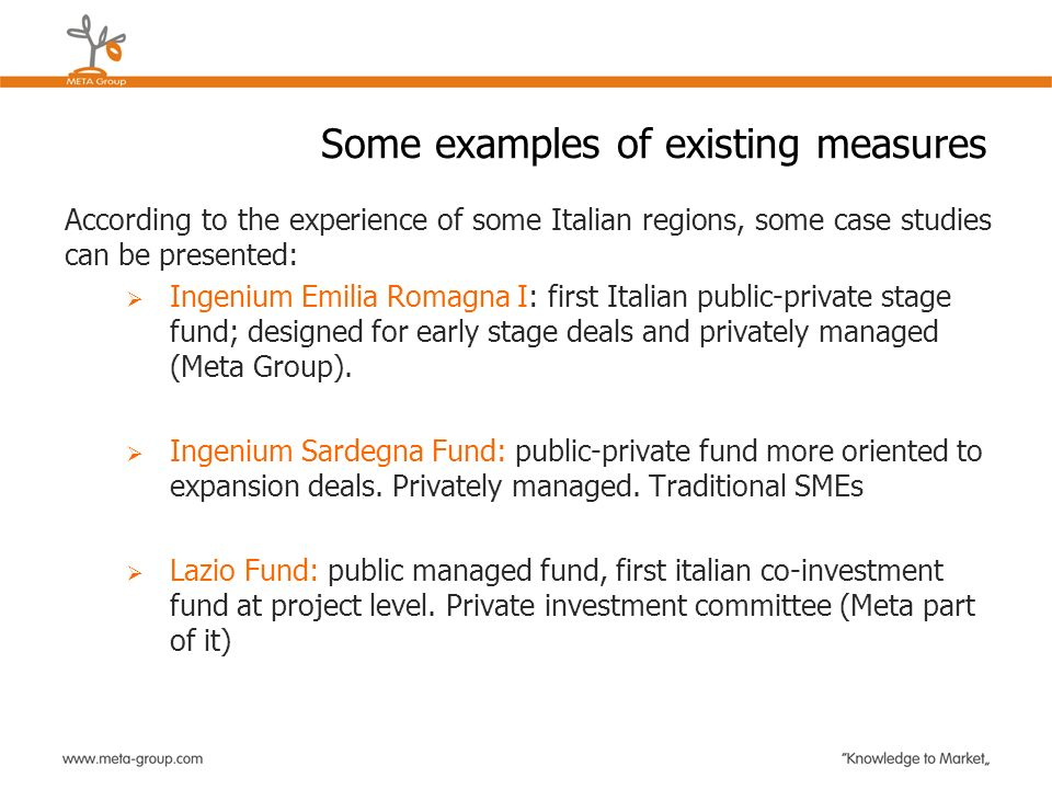 Some examples of existing measures