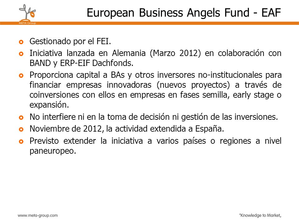 European Business Angels Fund - EAF
