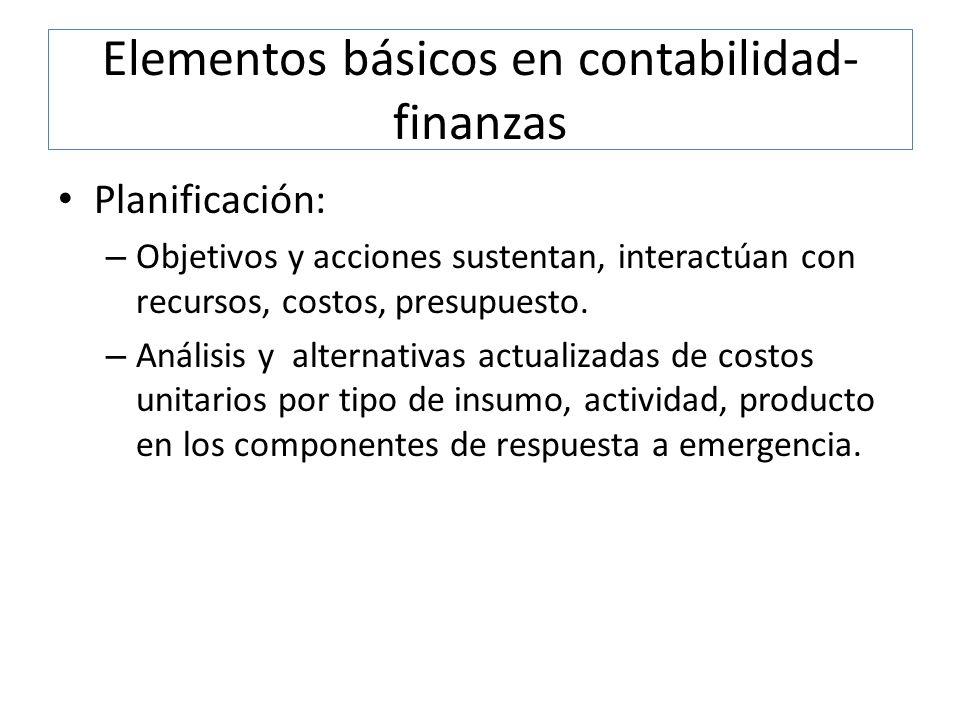 Elementos básicos en contabilidad-finanzas