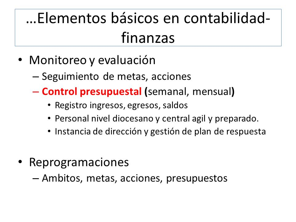 …Elementos básicos en contabilidad-finanzas