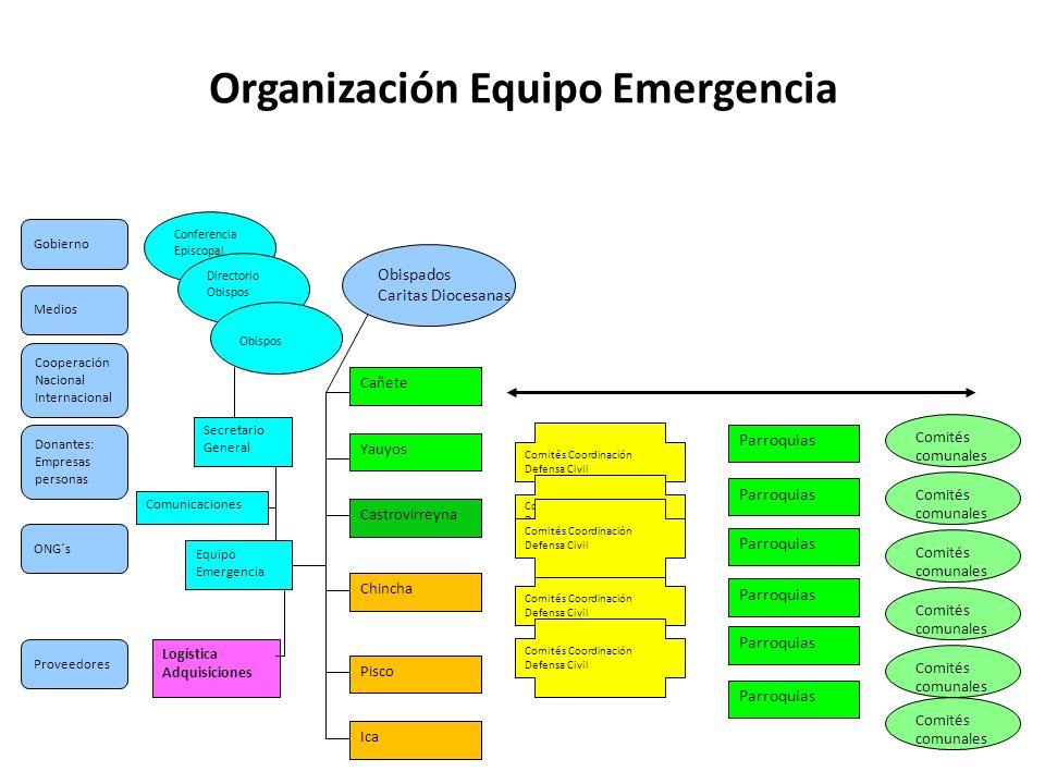 Organización Equipo Emergencia