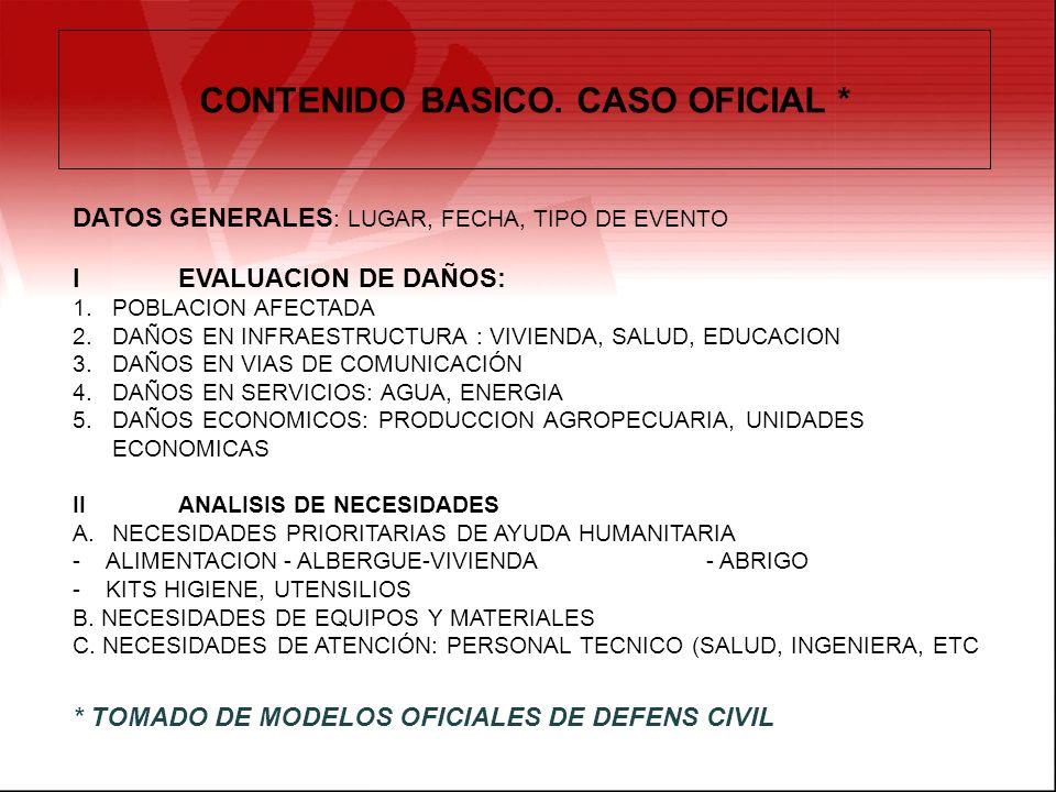 CONTENIDO BASICO. CASO OFICIAL *
