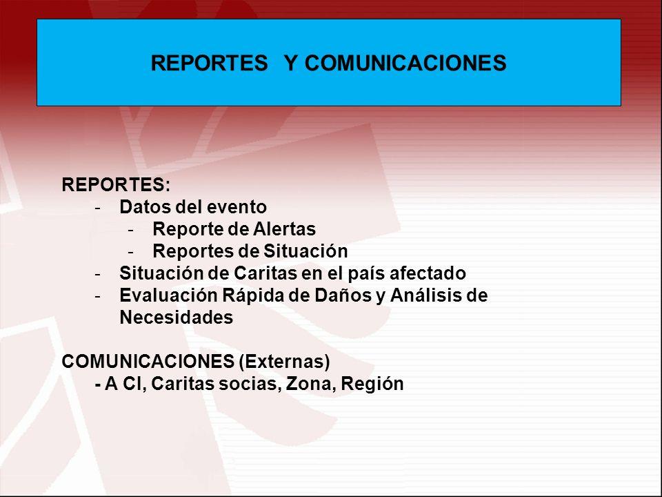 REPORTES Y COMUNICACIONES