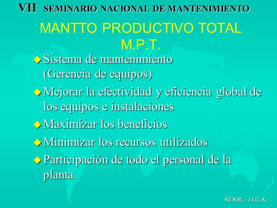 MANTTO PRODUCTIVO TOTAL M.P.T.