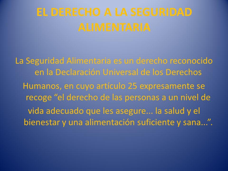 EL DERECHO A LA SEGURIDAD ALIMENTARIA