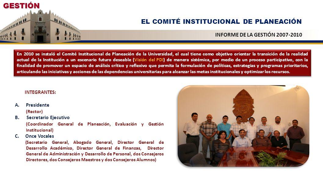 GESTIÓN EL COMITÉ INSTITUCIONAL DE PLANEACIÓN